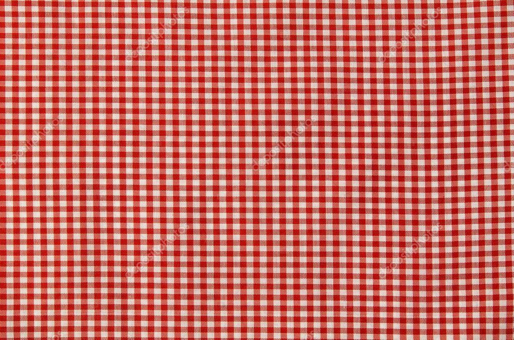 nappe à carreaux rouge et blanc — photographie wstockstudio © #128863850
