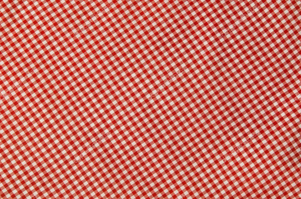 Red And White Checkered Tablecloth U2014 Stock Photo
