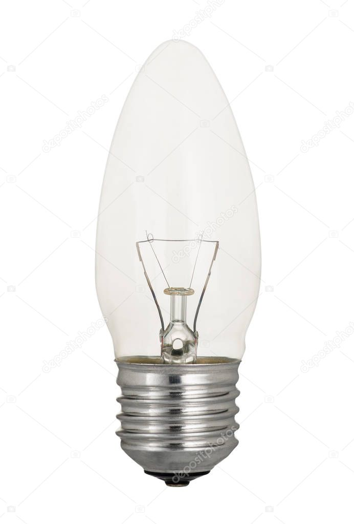 Traditional Tungsten Light Bulb Isolated On White U2014 Stock Photo