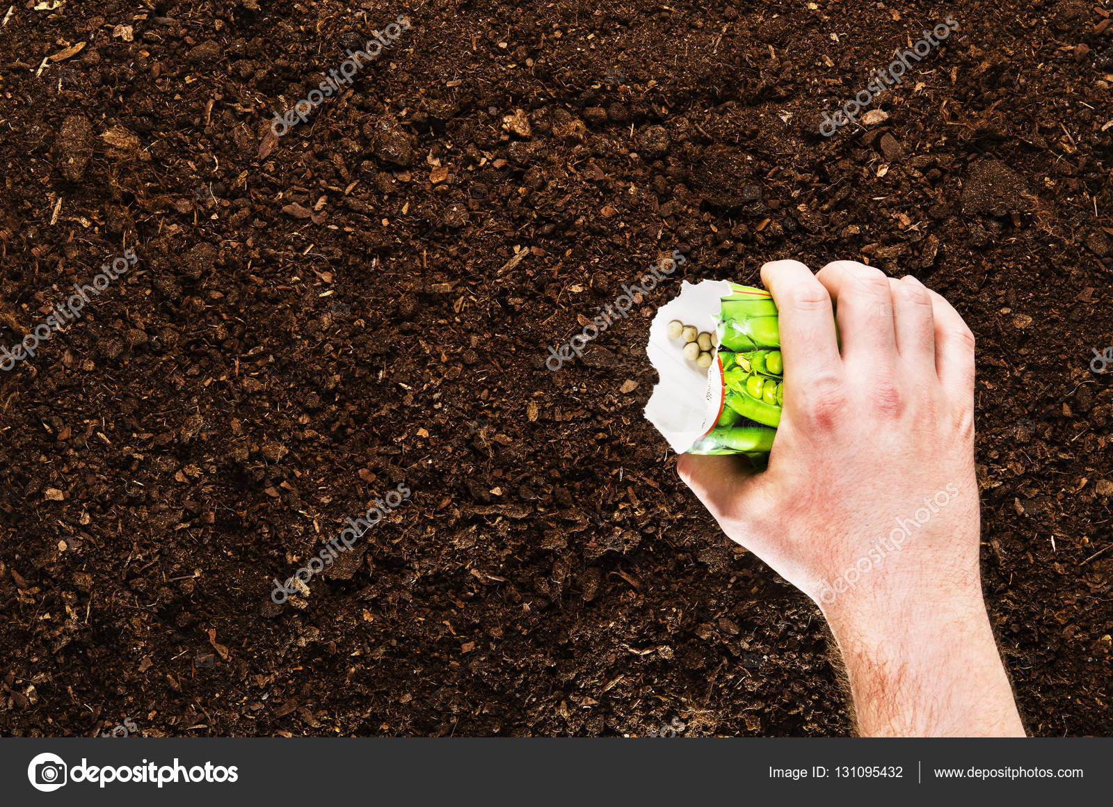 Delightful Fertile Garden Soil Texture Background Top View U2014 Stock Photo #131095432
