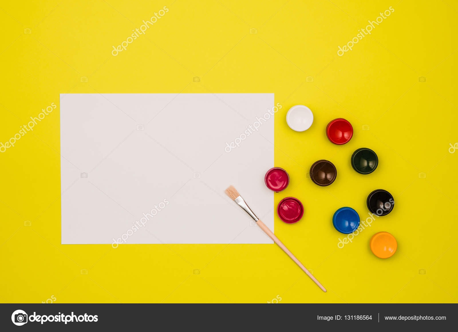 School Table Or Desk Seen From Above. Top View U2014 Stock Photo