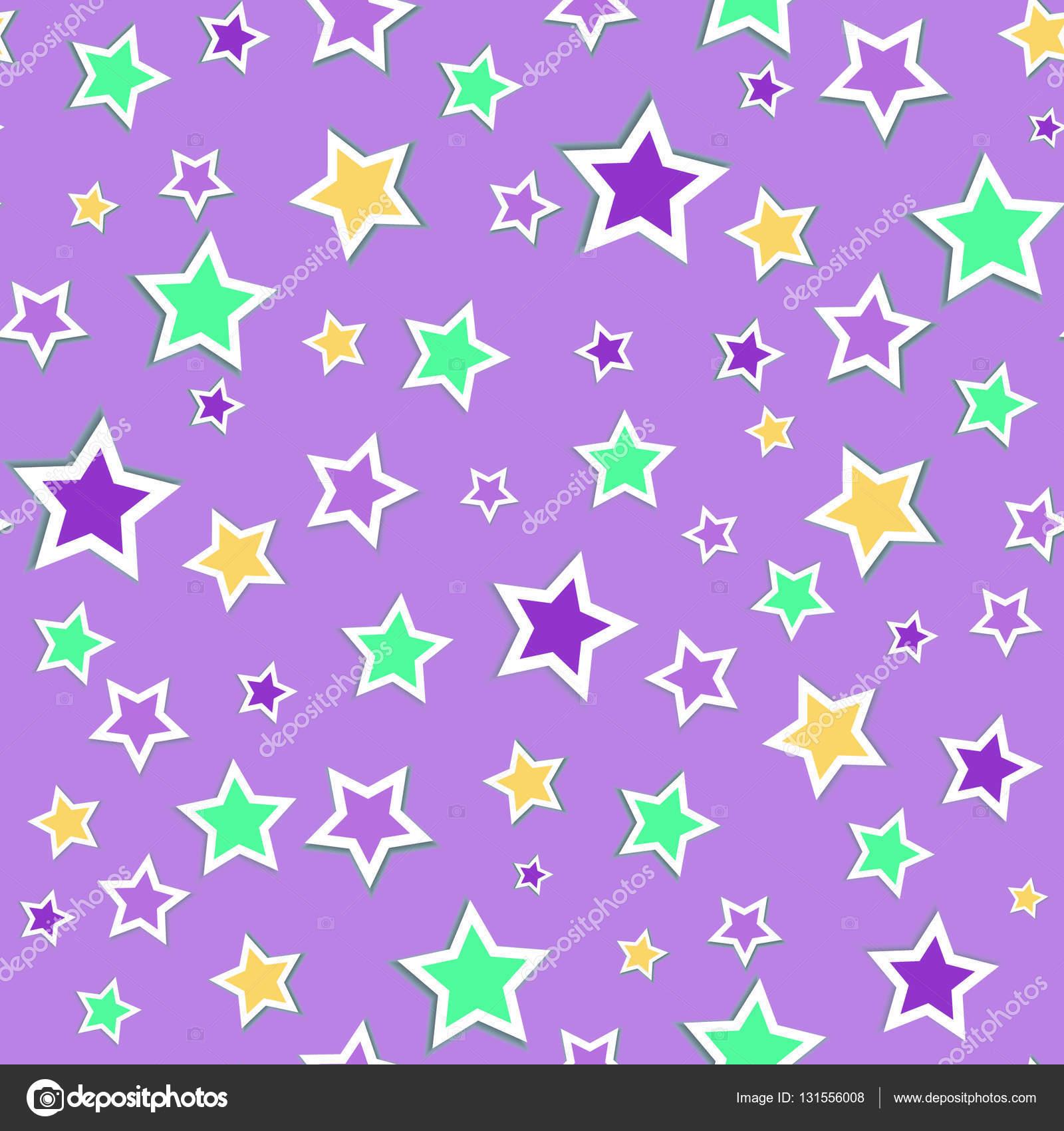 Estrellas Bonitas De Colores Fondo Transparente Con Estrellas De