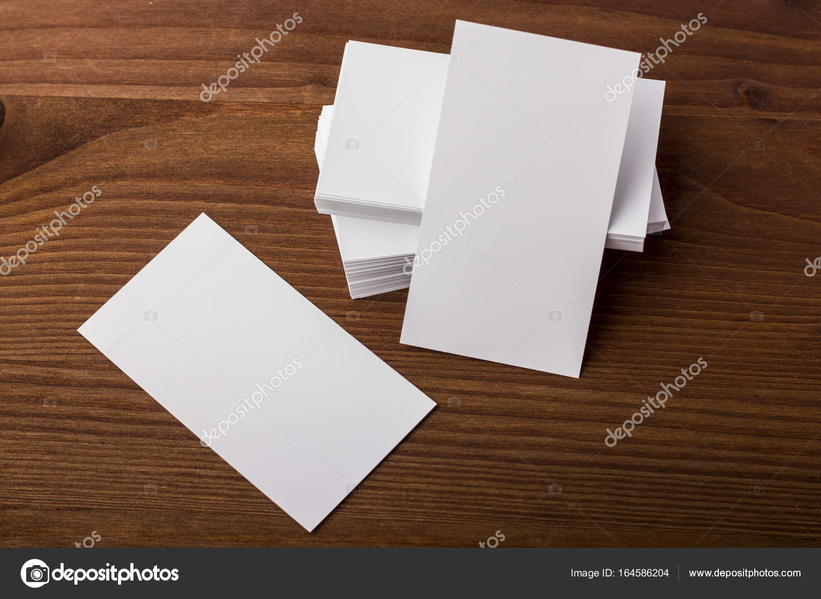 blank business cards on wooden background stock photo art rich
