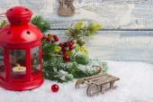 Novoroční přání. Hračky a výzdobu. Téma Vánoce a nový rok. Prázdné místo pro text