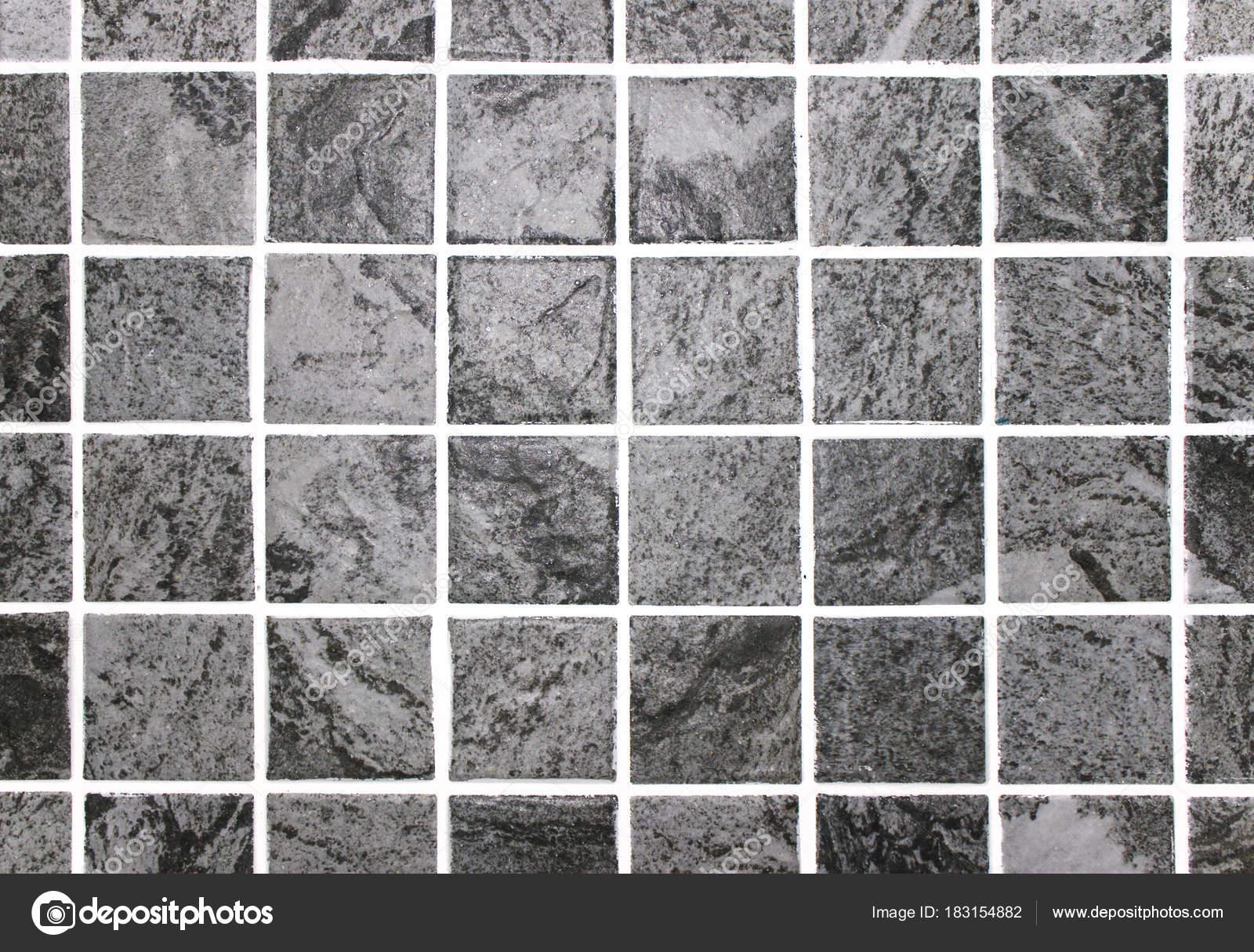 Grigio quadrato ceramica piastrelle sfondo texture una roccia u2014 foto