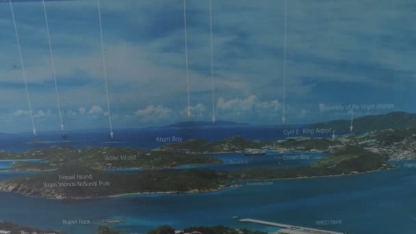 tourist map of the saint thomas and live view stock video