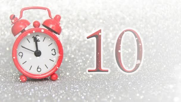 watch piros este 10 másodperc számít éjfélig, visszaszámlálás tíz, boldog új évet 2018