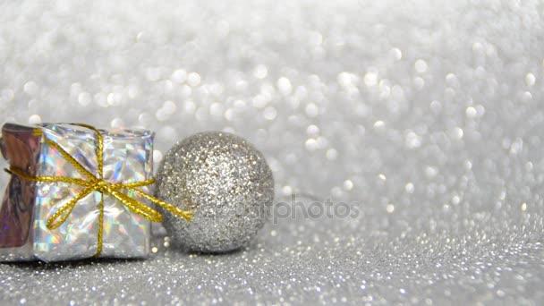 stříbrné a zlaté nový rok a vánoční dekorace, napište vaše přání