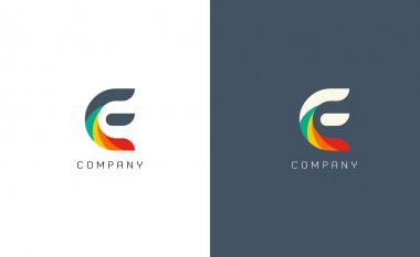 E letter logos symbols vector icons stock vector