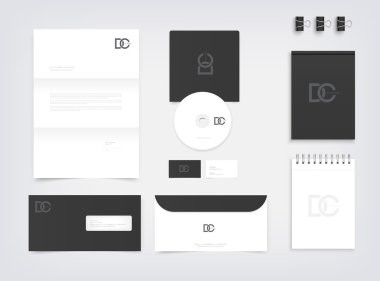 Branding mockup, stationery presentation templates