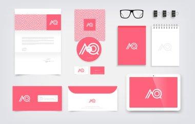 Branding mockup, stationery presentation templates