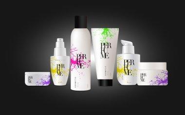 Set of cosmetic bottles design