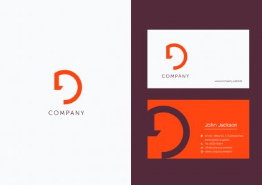 D Letter Logo Business Cards