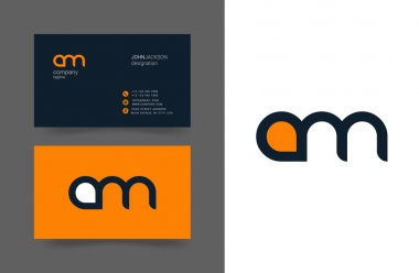 A & M Letters Logo Business Cards