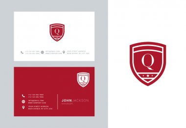 Q Letter Logo with Business Cards