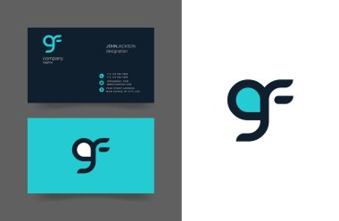 G&F Letters Logo Business Cards