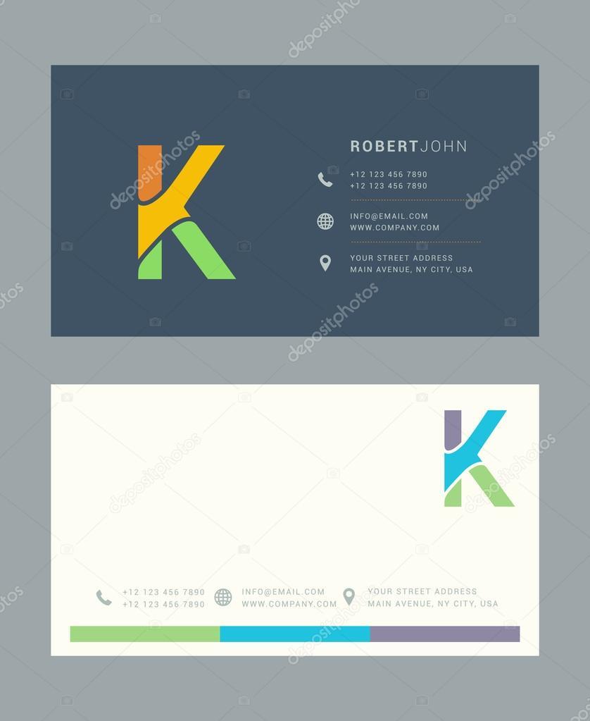 K-Brief-Logo mit Kartenvorlage — Stockvektor © brainbistro #126886160