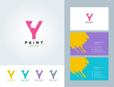 Painted Y letter logo