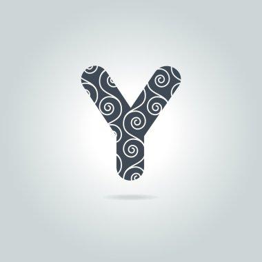 Floral Y Letter Logo Icon
