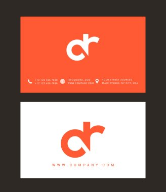 D and R Letters Logo, with Business Card Templates. Vector stock vector