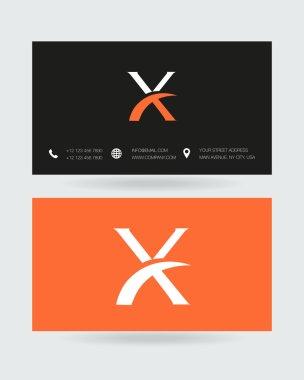 X Letter icon logo