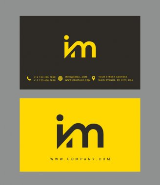 I and M Letters Logo