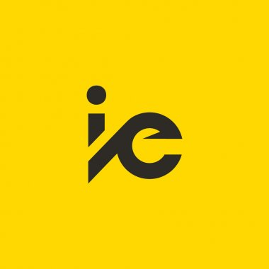 I and E Letters Logo