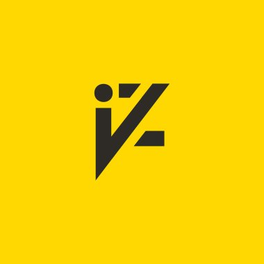 I and Z Letters Logo