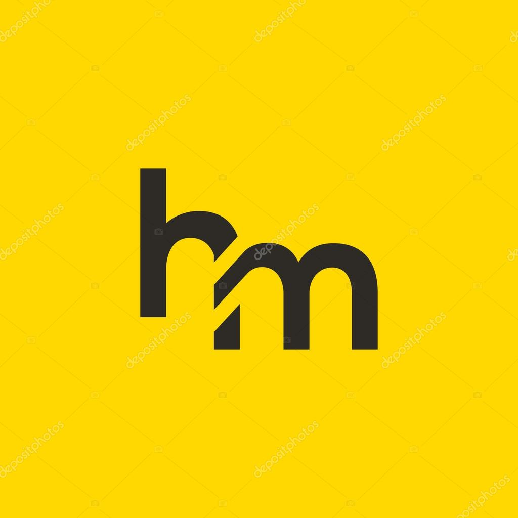 H And M Letters Logo Stock Vector C Brainbistro 127756726