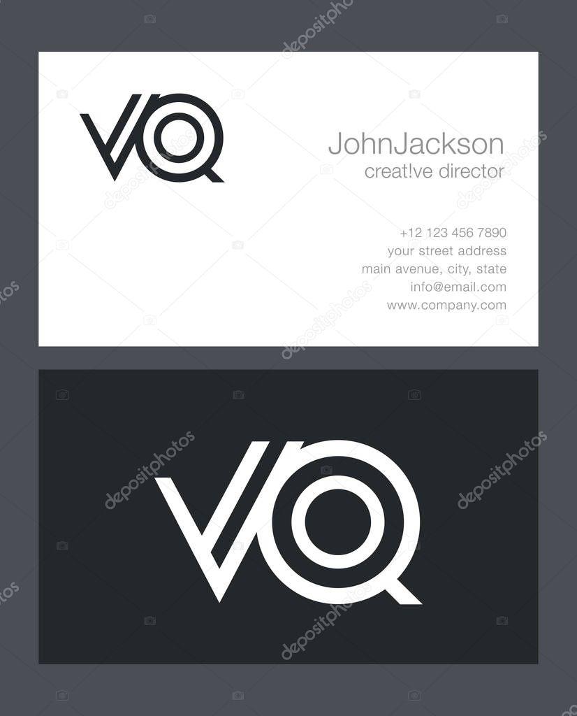 de62f33c2 V   do logotipo de letra Q — Vetor de Stock © brainbistro  130485088