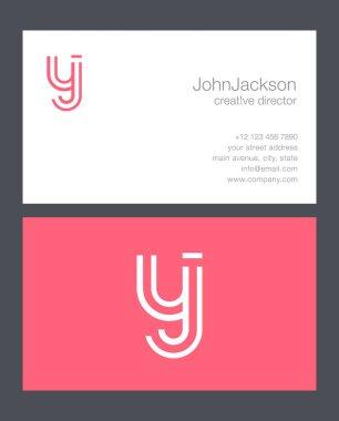 Y & J Letter Logo