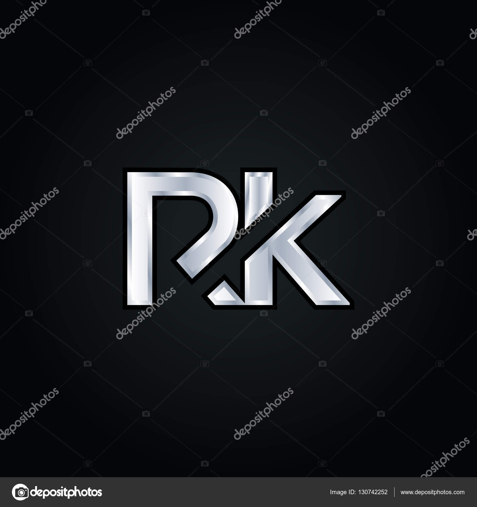 R K Letter Logo Stockvektor C Brainbistro 130742252