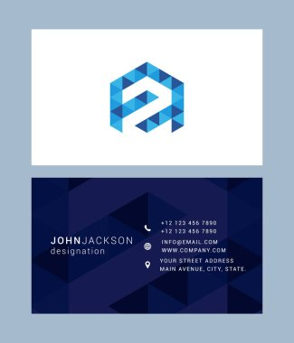Business card template with letter Z