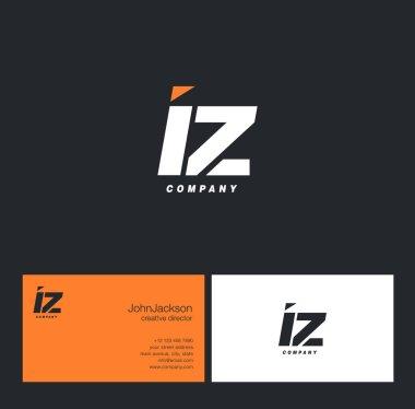 I & Z Letter Logo