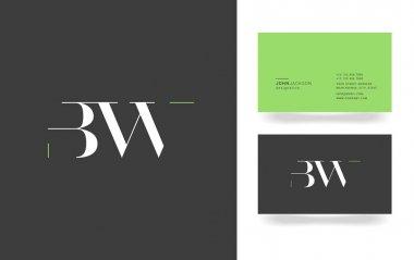 B & W Letter Logo