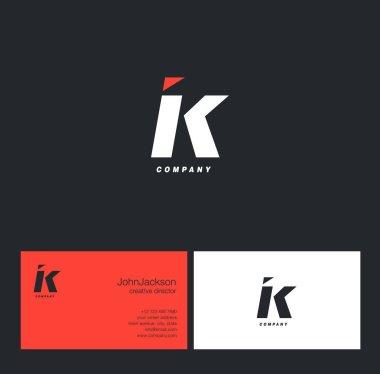 I & K Letter Logo