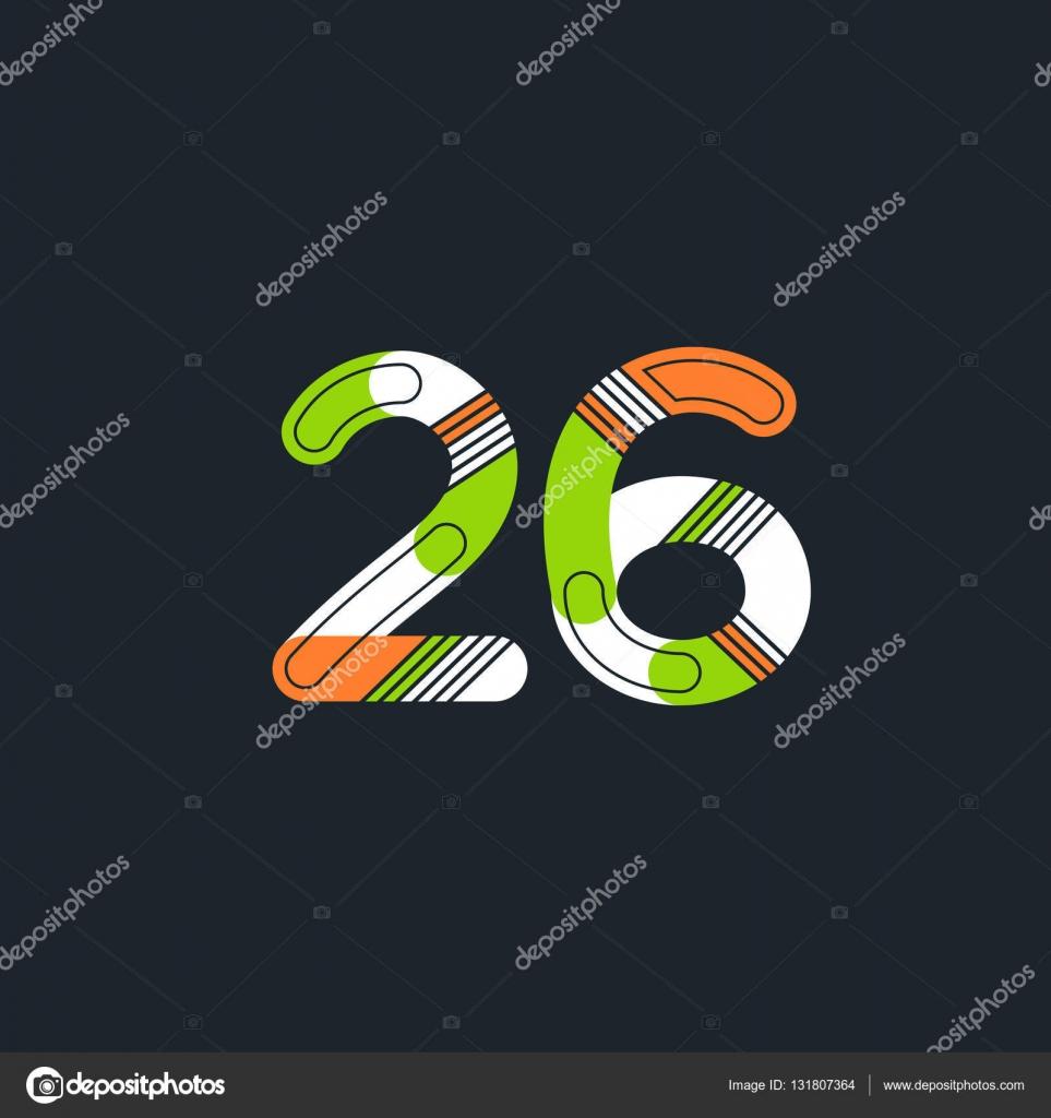 4b1ce641cd2c1 26 número Logo icono — Archivo Imágenes Vectoriales © brainbistro ...