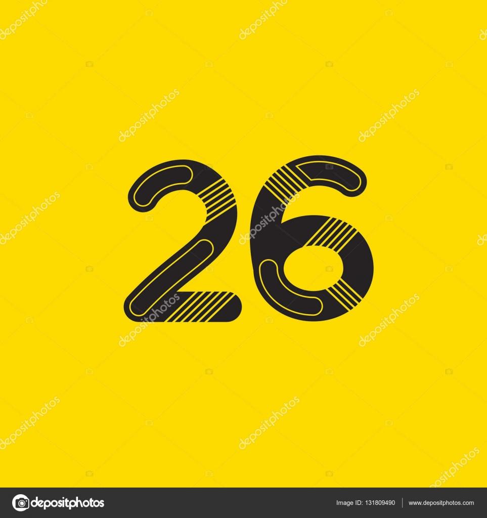 bdffecb20f81e 26 número ícone do logotipo — Vetores de Stock © brainbistro  131809490