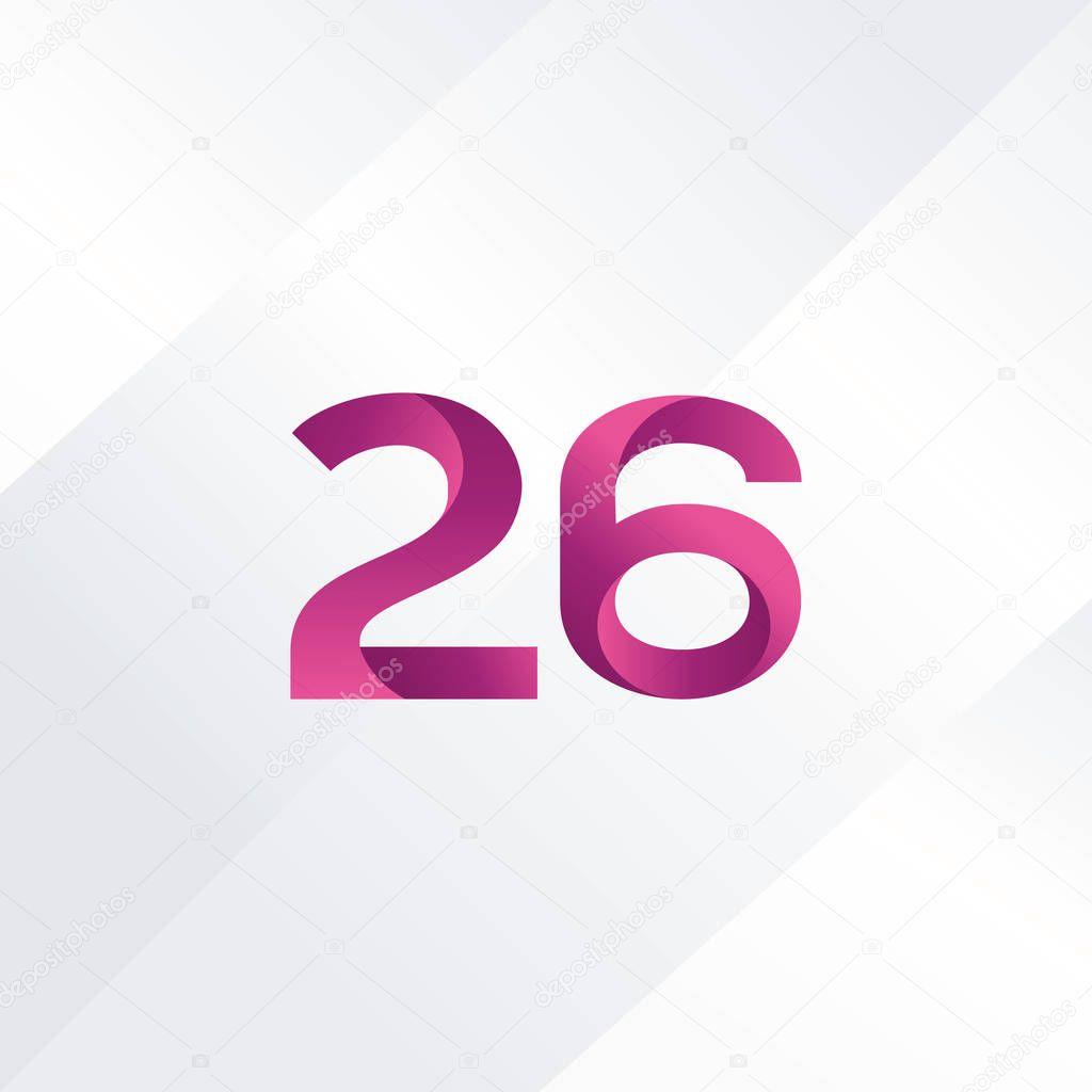 cc0248971e64f 26 número ícone do logotipo — Vetores de Stock © brainbistro  131806724