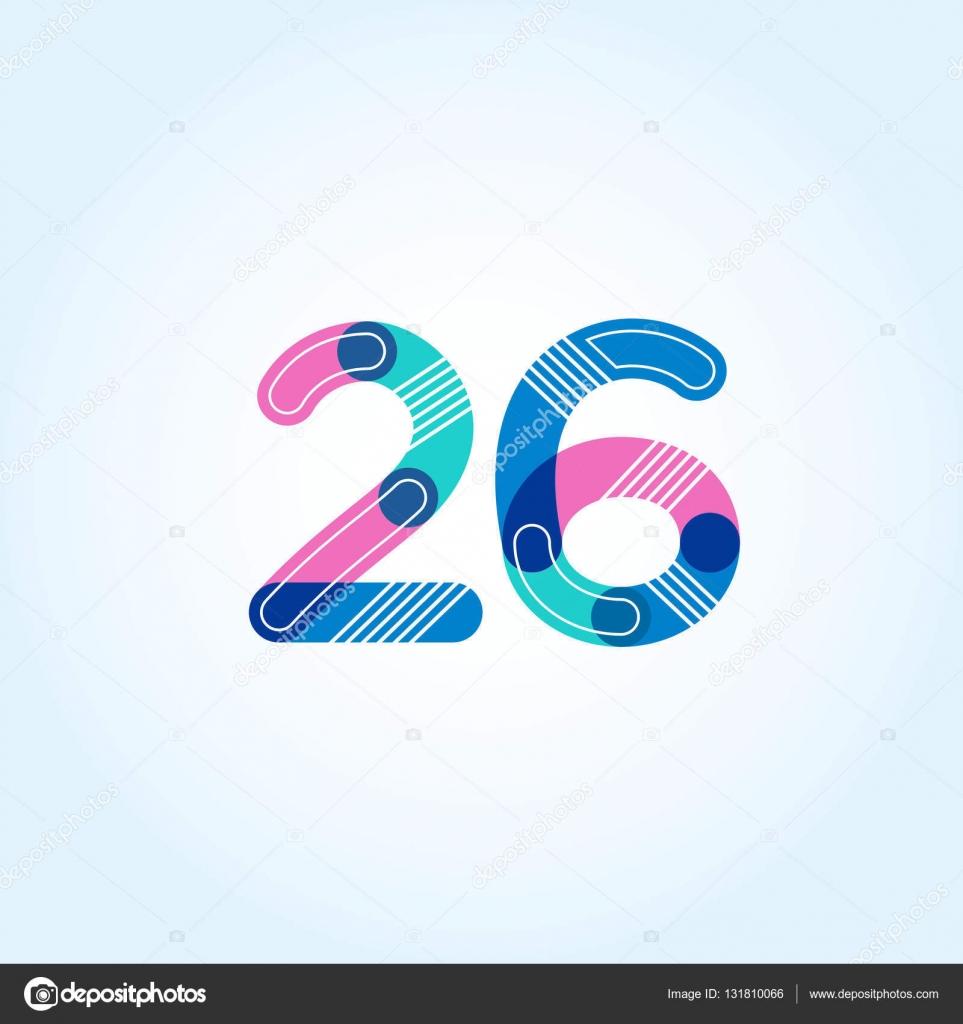 65c84688ee858 26 número ícone do logotipo — Vetor de Stock © brainbistro  131810066