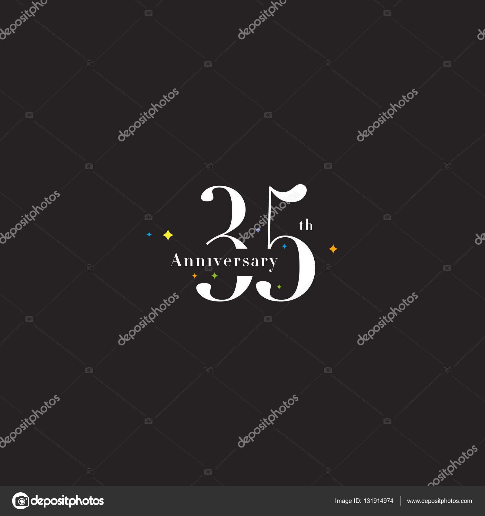 35e Verjaardag Logo Pictogram Stockvector C Brainbistro 131914974