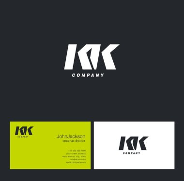 K & K Letter Logo