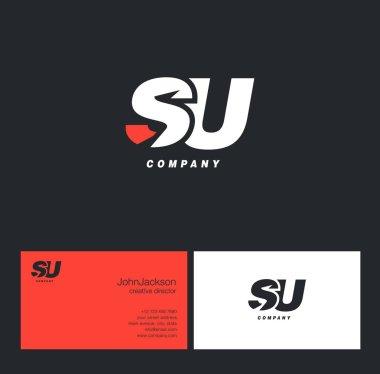 S & U Letter Logo