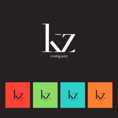 K & Z Letter Logo