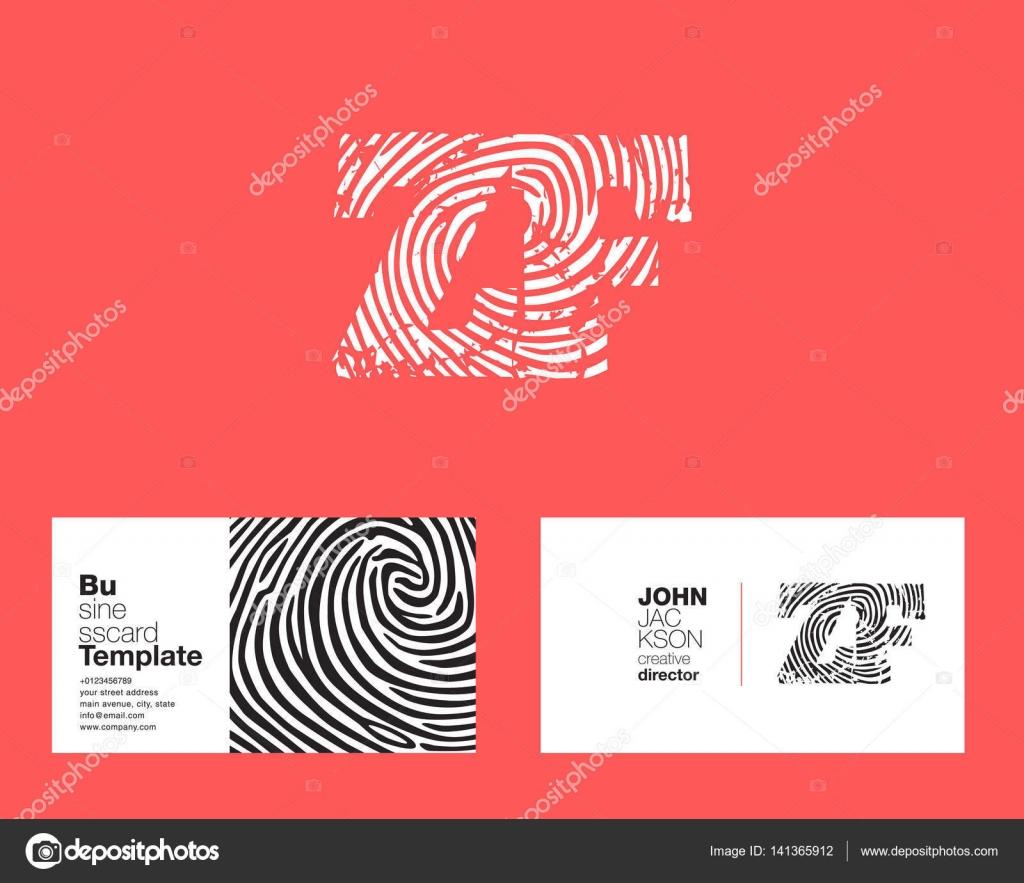 ZF-Buchstaben-Firmenlogo — Stockvektor © brainbistro #141365912
