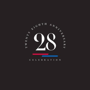 Twenty eighth Anniversary logo icon