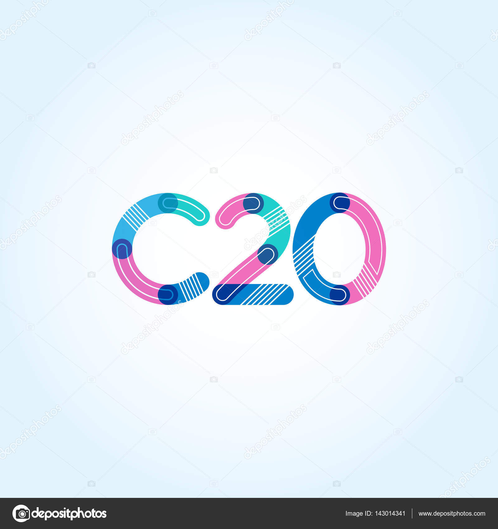 C20 letter and number logo icon — Stock Vector © brainbistro #143014341