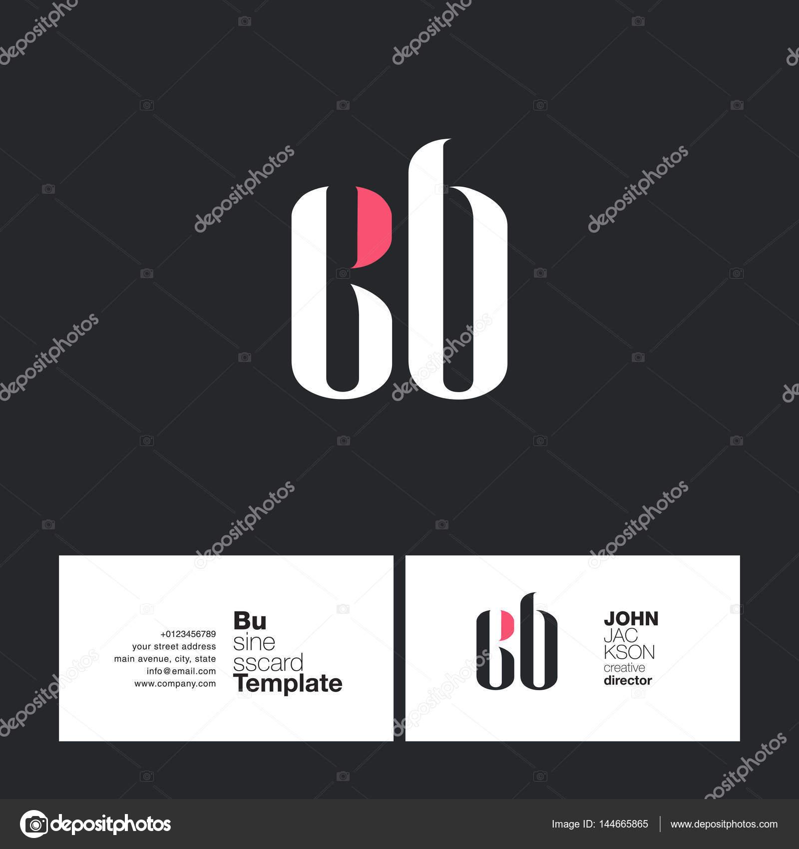Carte De Visite Pour Le Logo CB Lettres Illustration Stock
