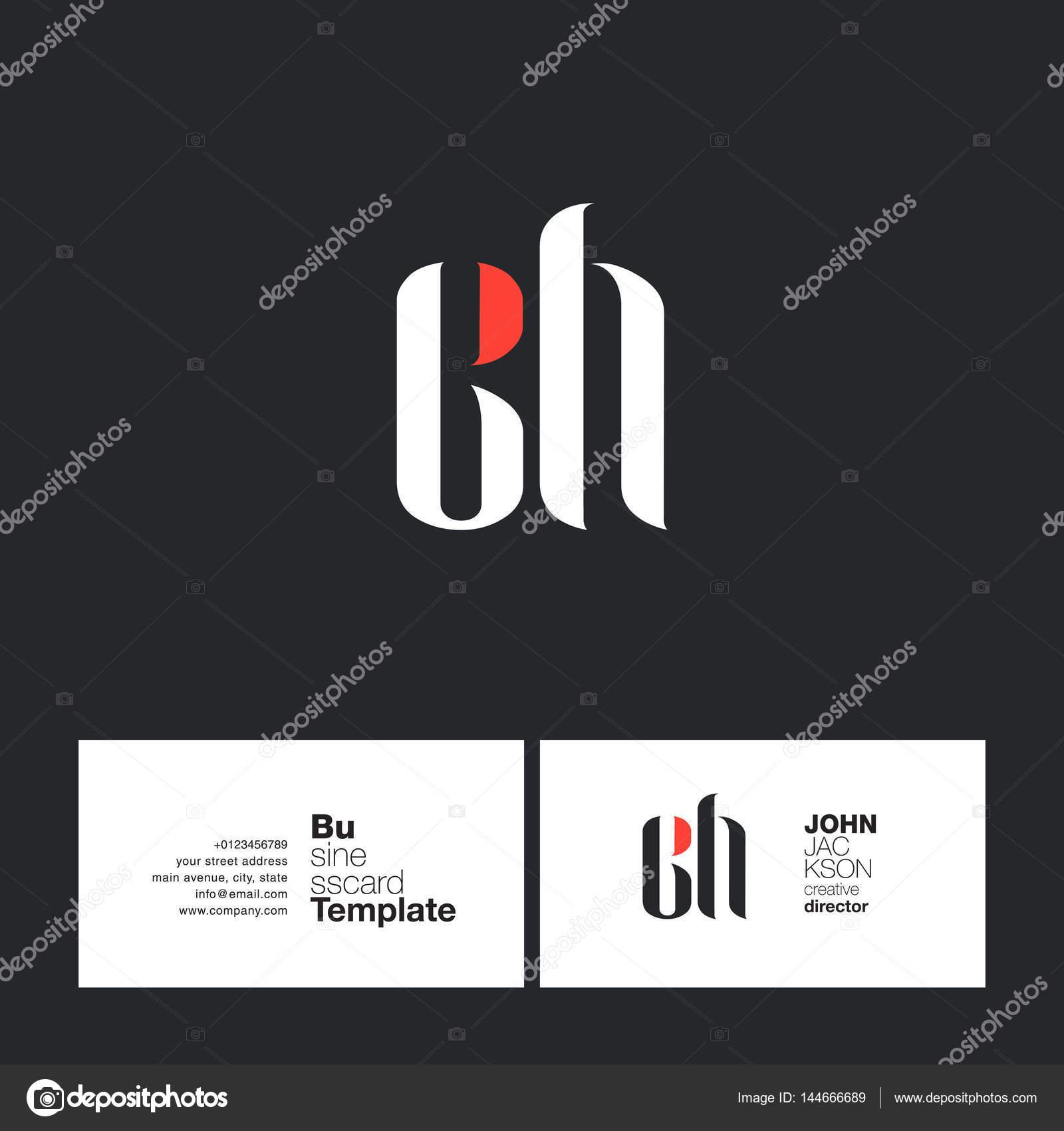 Carte De Visite Image Vectorielle Ch Mixte Lettres Logo Avec Business Card Template Vecteur Par Brainbistro