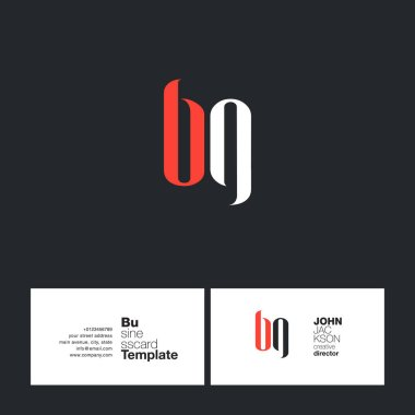BG Letters Logo Business Card